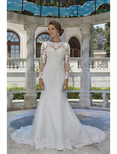 Wedding dresses by Venus Bridal at Catwalk 09 Exeter, Devon.